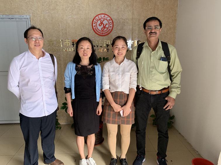 印度的客户来访艳燕公司